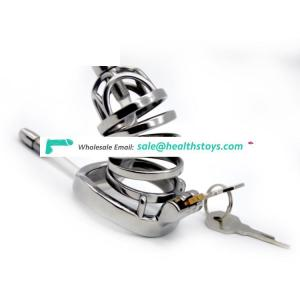 FRRK 09D SM Cage For Adult 304 Stainless Steel Chastity Device Arc Ring Cock Cage With Catheter Cage Chastity For Man