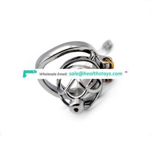 FRRK 304 Stainless Steel Chastity Device Male Cock Cage Stealth Lock Fetish Virginity Penis Ring Cage Chastity For Man