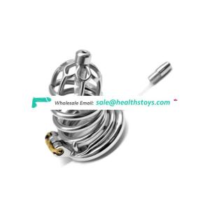 FRRK 304 stainless steel Metal chastity lock penis ring cock cage ring adult sex toy male chastity cage metal chastity for men