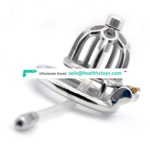 FRRK 5.1cm sm sex toys lock penis cage chastity cage stainless steel Male chastity device lock chastity cage metal for man