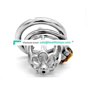 FRRK 5.1cm stainless steel chastity cage sm sex products for male chastity device  metal chastity cage with catheter