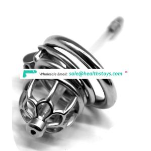 FRRK 5.2cm man chastity cage 304 stainless steel  lock penis in cage with keyholder catheter Male chastity device