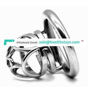 FRRK 5.3cm chastity cage SM Male chastity device chastity lock penis in cage with keyholder metal cock cage for man
