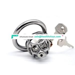 FRRK 5.3cm metal cock ring chastity lock penis cage for male chastity device with catheter chastity cage for male