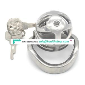 FRRK 5.7cm metal chastity cage lock penis in cage with keyholder Male chastity device sex shop chastity cage stainless steel