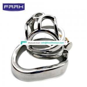 FRRK 5.8cm men metal chastity cage lock penis in cage with keyholder Male chastity device sex shop chastity cage stainless steel