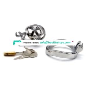 FRRK 51mm  lock penis cage with keyholder Male chastity device sm sex toys curved cock ring chastity cage
