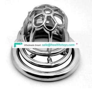 FRRK 51mm SM sex product lock penis in cage stainless steel lock  chastity device metal chastity cage for male
