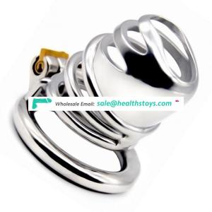 FRRK 6.3cm SM sex toy chastity lock penis cage with keyholder Male chastity device sex shop chastity cage 304 stainless steel