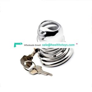 FRRK 6.3cmmetal sleeve sex toys lock penis in cage Male chastity device  chastity lock metal chastity cage