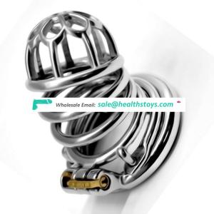 FRRK 6.4cm sex shop lock Male chastity device  chastity cage stainless steel lock penis in cage chastity cage with keyholder