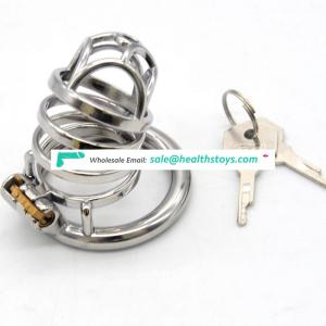 FRRK 6.6cm man chastity cage  lock penis in cage with keyholder Male chastity device sex shop metal chastity cage