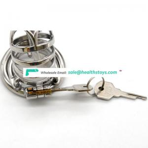 FRRK 6.6cm metal chastity cage for male chastity device chastity cage 304 stainless steel lock penis with catheter