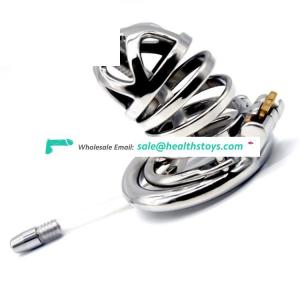 FRRK 60mm penis cage SM sex products chastity device with catheter Clasp cock cage for male chastity cage
