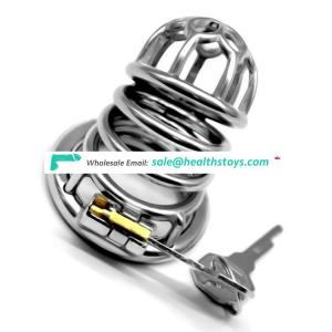 FRRK 64mm keyholder ring cock 304 stainless steel SM sex toy Male chastity device chastity cage for man