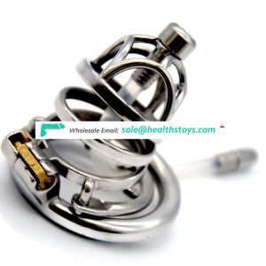 FRRK 6cm  lock penis in cage  cock cage chastity cage with cock ring for male metal chastity device