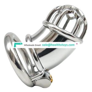 FRRK 7.3cm chastity cage SM sex products chastity lock penis in cage with keyholder chastity device for Male