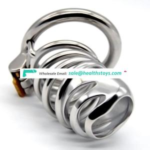 FRRK 74mm sm sex toys man chastity lock penis in cage with keyholder Male chastity device  chastity cage 304 stainless steel