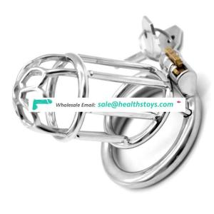 FRRK 75mm Chastity Device Male Penis Ring Tune Bondage Cage Sex Toy Restraint Ring Sex Games Chastity Cage For Adult
