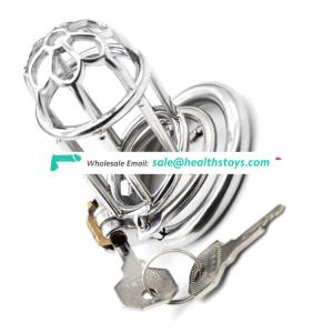 FRRK 75mm sex shop lock penis in cage with keyholder chastity cage stainless steel lock  chastity device