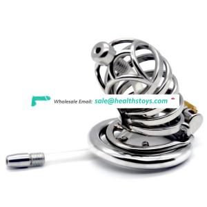 FRRK 7cm   lock penis in cage man chastity cage with Male chastity device cock cage cock ring metal
