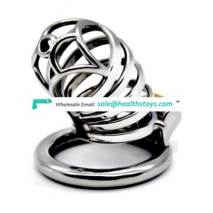 FRRK 7cm chastity cage SM  Male chastity device chastity lock penis in cage with keyholder  metal cock cage