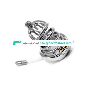 FRRK Bird Cage Chastity Device CB6000 metal cock BDSM bondage penis ring lock restraint metal chastity in penis ring for male