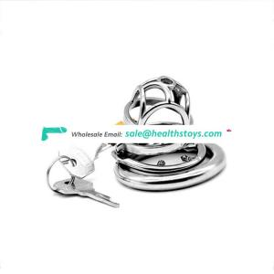 FRRK Chaste Bird Male Stainless Steel Cock Cage Chastity Device Ring New Lock Sex Shop cock cage penis sleeve with Anti-off Ring