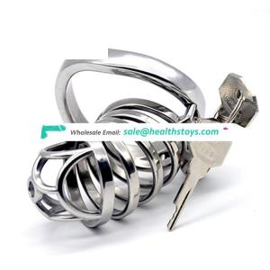 FRRK Chastity Device For Male Sex Penis Ring Stainless Steel Chastity Cage Bondage Cage Belt Bird cage Adult Sexy Toys