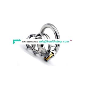 FRRK Cock Cage Male 304 Stainless Steel Chastity Device Restraint Ring Adult Sex Games SM Cage Penis Lock Chastity Male