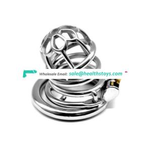 FRRK Confinement Chastity Cage Male Stainless Steel Chastity Device Metal Cock Cage new cock cage for male adult sex games