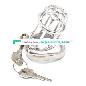 FRRK Male Restraint Ring Bondage Cage 304 Stainless Steel Restraint Ring Belt Bird Penis Ring Cage Chastity For Man