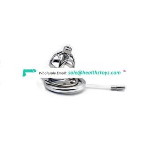 FRRK Male Stainless Steel Chastity Device Belt Openwork Cock Cage Metal Penis Ring Bondage Penis Sex toy metal chastity device