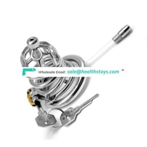 FRRK Stealth Lock Chastity Device Penis Ring  Chastity Male 304 Stainless Steel SM Cage improve sex life Prison Cage For Adult