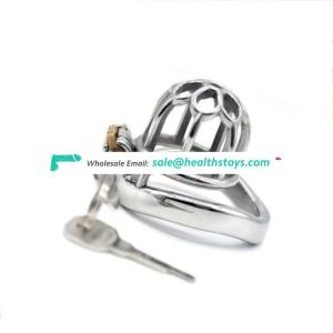 FRRK chastity cock cage stainless steel male masturbate penis ring porno adult sex toy bondage lock sex toys man for sex games
