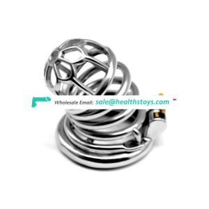 FRRK male Chastity Device Stainless Steel Chastity Belt Openwork Cock Cage Penis Ring Sex Products metal chastity cage for men