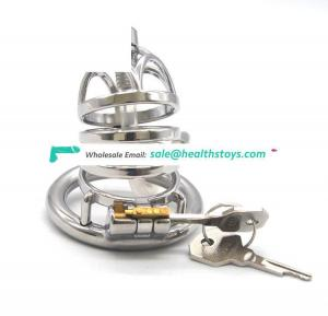 FRRK male chastity device sexy toy 3D cage for penis ring stainless steel Cock Ring medical sex toy sex shop for couples