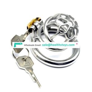 FRRK01 sex shop 6cm small cock cage with penis ring chastity lock stainless steel chastity cage SM toys sex adult for male