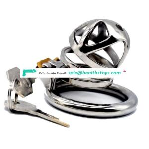FRRK05C 304 Stainless Steel 3 Size Bird Cock Cage Lock Adult Game Metal Male Chastity Belt Device Penis Ring Sex Toys For Men