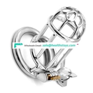 """FRRK10 3.4"""" inch man chastity cage lock penis in cage with keyholder Male chastity device sex shop chastity cage stainless steel"""