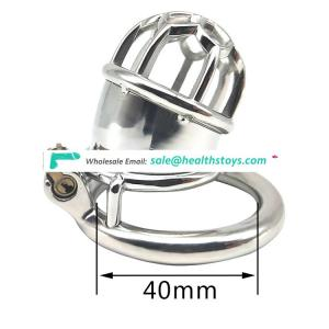 FRRK5.8cm 304 stainless steel SM sex products chastity lock penis in cage with keyholder chastity device  chastity cage for male