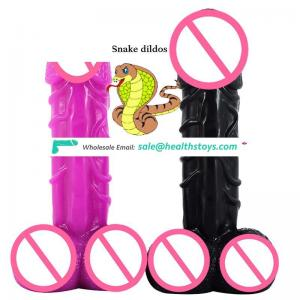 Faak 10 Inch Popular Animal Dildos Snake Shape Extreme Dildos Stimulation Penis Huge Cock Anal Dildo China Sex Toys