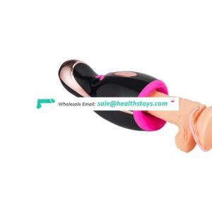 Hands Free G-pot Intelligent Heating Pulsating Vibrator Automatic Rotating Male Masturbator For Men