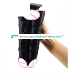 Hot Sale FAAK056 Sex Toy Big Size Double Dildo Night Life Realistic Suction Dildo 9.76 Inch Sex Toy For Women Men