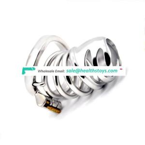 Male Chastity Cage stainless steel scrotum Cock Ring Penis Ring Lock Dick Bondage Penis sleeve Sex Toys sex toys shop for men