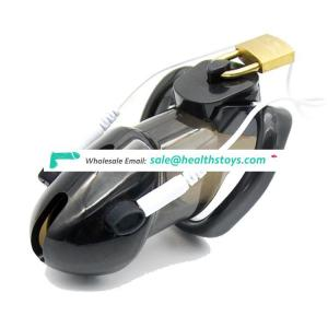 Male Polycarbonate Urethral Breast Locking Electro Chastity Cage Device Sex Toy