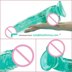 Medical PVC Cute Real Skin Feeling Colorful Jelly Dildo for Girls Women Lady