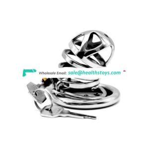 Metal male Chastity Device Penis Ring Virginity Lock Rings Sex Toys 40mm 45mm 50mm wire cock cage for adult men having sex games