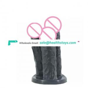 New Stimulation Pleasure High Simulation Round Head Dildo and Layer Upon Layer Progressive Into Body Sex Toy for Woman