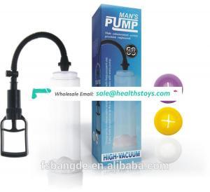 New design 2019 sex product penis pump vacuum enlargement for men